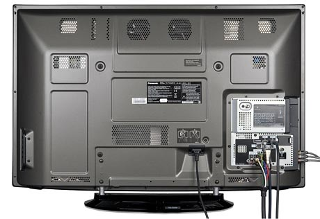 Panasonic TX P42GW10connections back connected test review