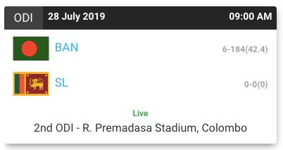 Crictime Todays Match Live Cricket Match Updates & Score 2019