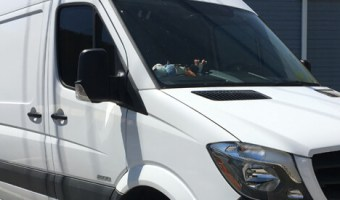 Northampton Client Gets Sprinter Van Interior Panels and Tint