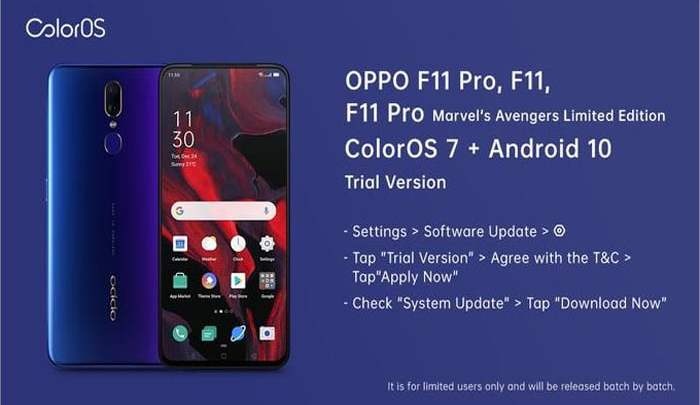 OPPO F11 Pro New update May 2020