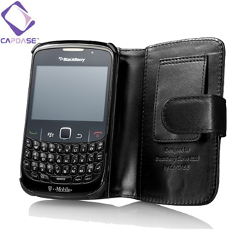 Capdase Classic Leather Book Case for BlackBerry Curve 8520
