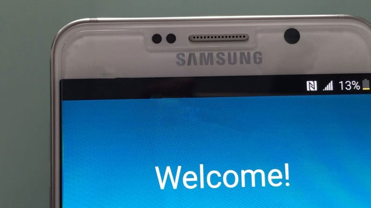 Note 5 welcome screen (zoom)