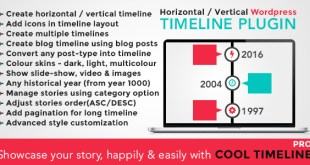 WordPress cool timeline plugin