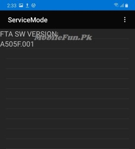 Samsung service mode code