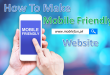 how to make mobile friendly website