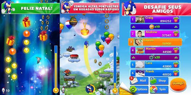 sonic-jump-fever Sonic 30 anos: relembre os jogos para celular do mascote da SEGA