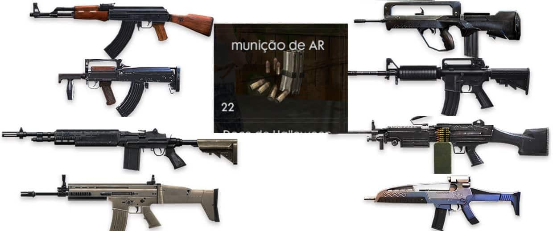 Free Fire Armas E Suas Munições Mobile Gamer Replicario