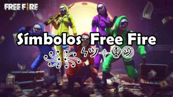 simbolos-free-fire-todos-os-simbolos 300 Nomes para Casal no Free Fire (combinando, engraçados e criativos)