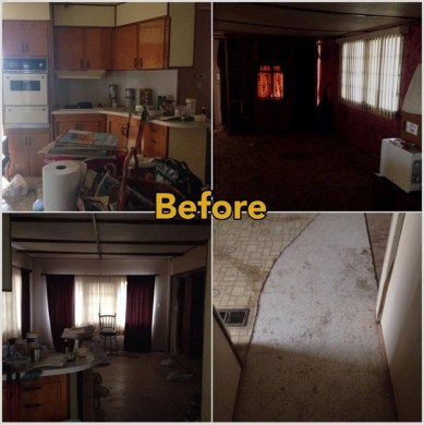 Mobile Home Makeover     Before and After Rehab Pictures     Mobile Home     before mobile home makeover