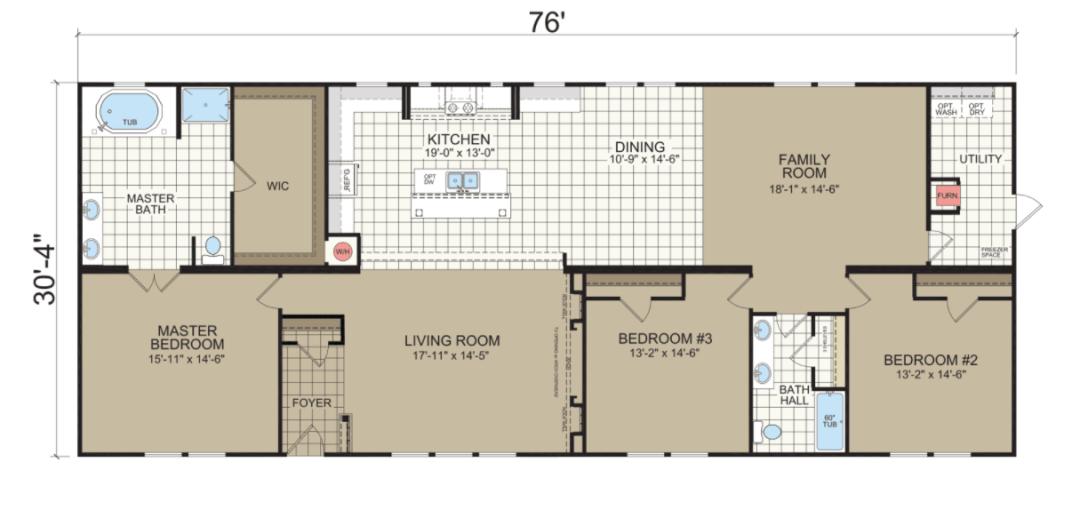 The Mon Reve Standard Floorplan