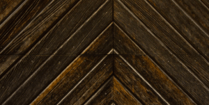 stained wood aligned