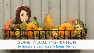 """Featured image for """"Some Visual Inspiration To Decorate Your Mobile Home For Fall"""" blog post"""
