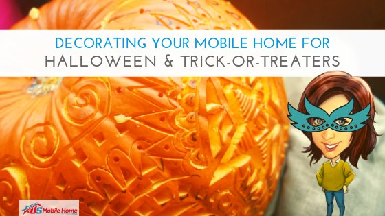 """Featured image for """"Decorating Your Mobile Home For Halloween & Trick-Or-Treaters"""" blog post"""