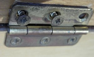Hinge, screw fitting