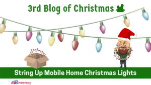 3rd Blog Of Christmas: String Up Mobile Home Christmas Lights