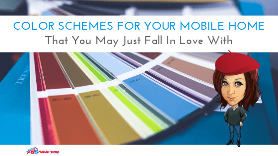 """Featured image for """"Color Schemes For Your Mobile Home That You May Just Fall In Love With"""" blog post"""