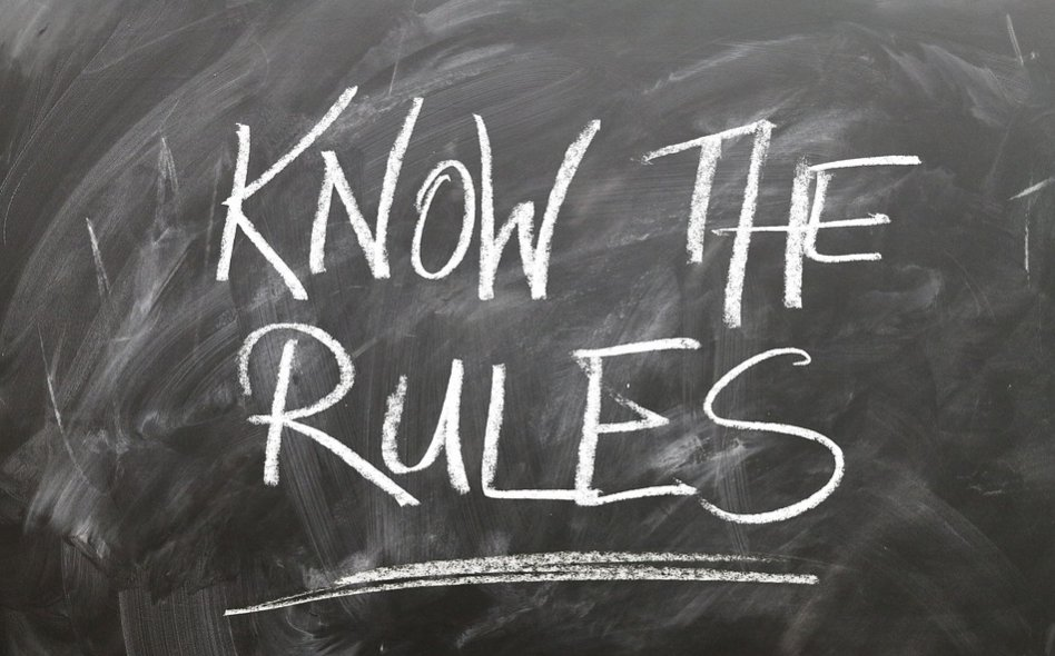 Know The Rules written in chalk on the chalkboard