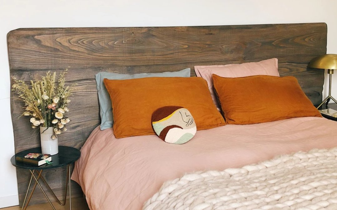 Retro themed bedroom based on wildflower color palette