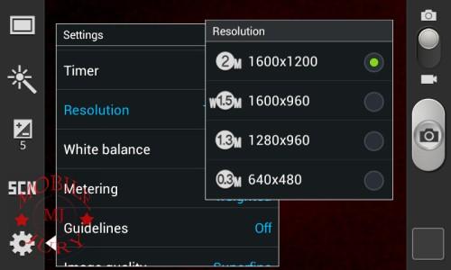 Resolution_Samsung Galaxy Star Pro