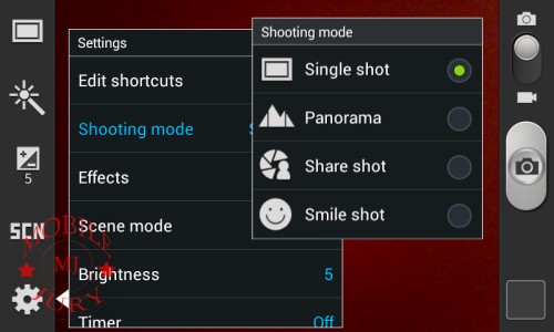 Shooting mode_Samsung Glaxy Star Pro