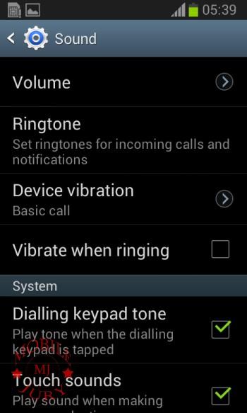 Sound_Samsung Galaxy Star Pro