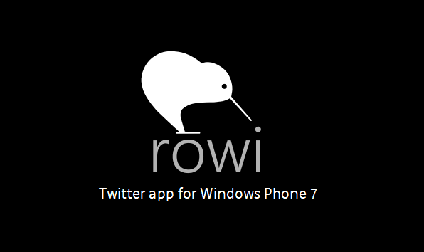 Rowi der bessere Windows Phone Twitter Client