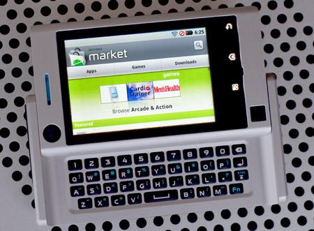 Google Android Market on a Motorola Devour Smartphone - Photo: Mobile Magazine