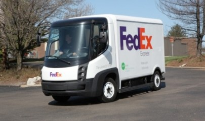 FedEx green electric truck - Photo: FedEx