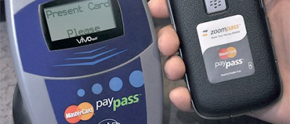 Swipe your ZoomPass tag module to make a transaction.