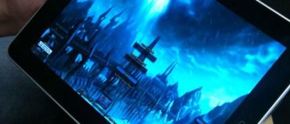 World of Warcraft playing on the iPad through Gaikai