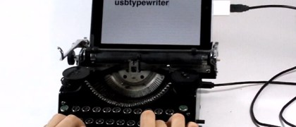 USB Typewriter hooked up to the iPad