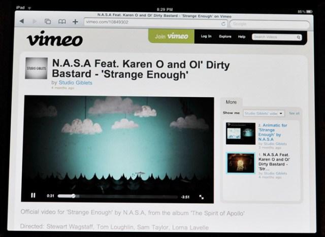 Vimeo on iPad now playing videos via HTML5
