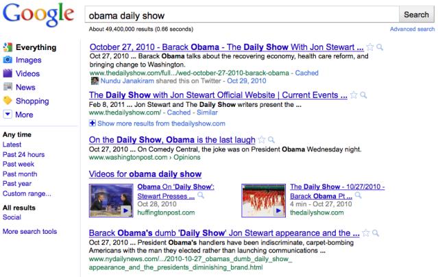 google-social-results