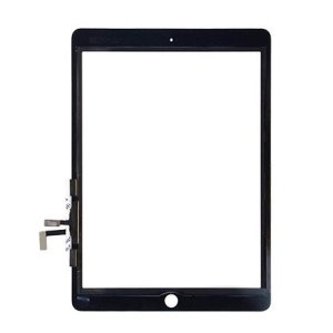 iPad 2017 Digitizer Touch Screen with Adhesive Tape – Black