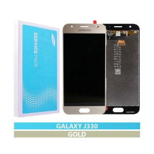 Galaxy J3 2017 (J330) LCD and Digitizer Touch Screen Assembly – Gold