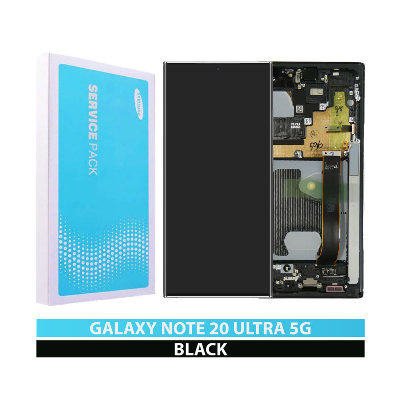 Galaxy Note 20 Ultra 5G N986 Service Pack LCD Display Replacement Mystic Black