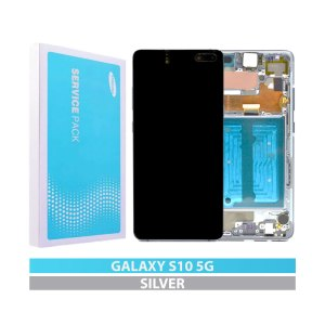 Galaxy S10-5G G977 Service Pack Display Replacement Crown Silver