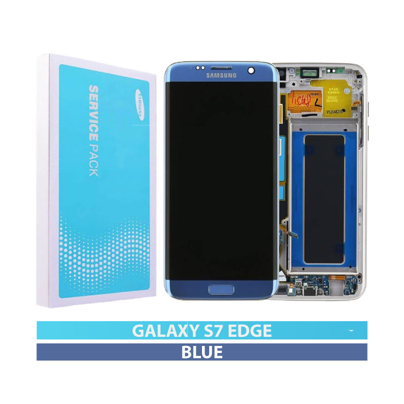 Galaxy S7 Edge G935F Service Pack LCD Display Replacement Blue