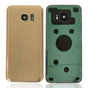 Galaxy S7 Edge (G935) Rear Glass With Camera Lens – Gold