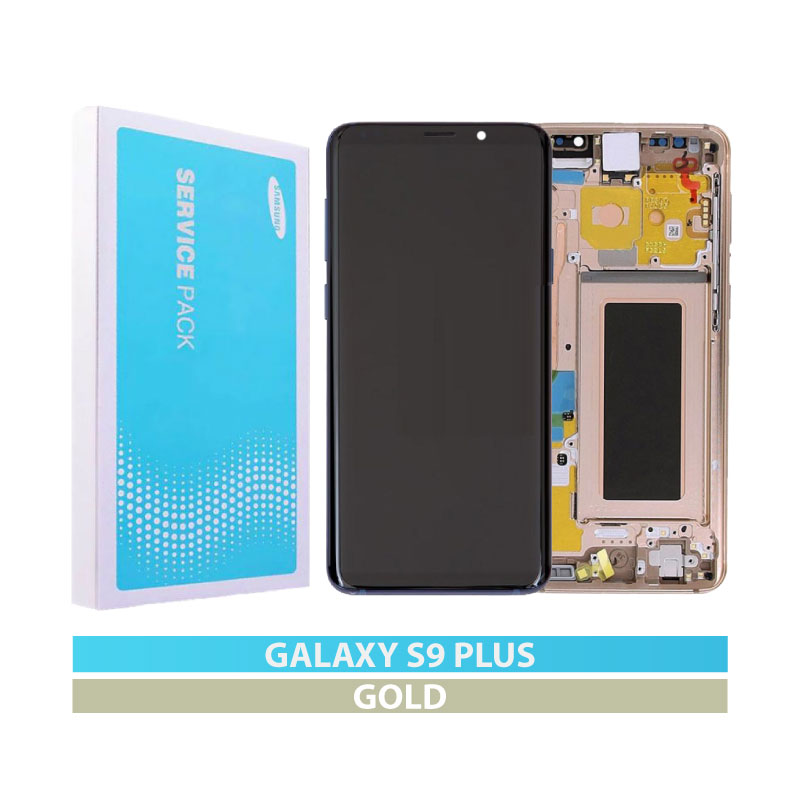 Galaxy S9 Plus (G965F) Service Pack LCD Display Replacement Gold