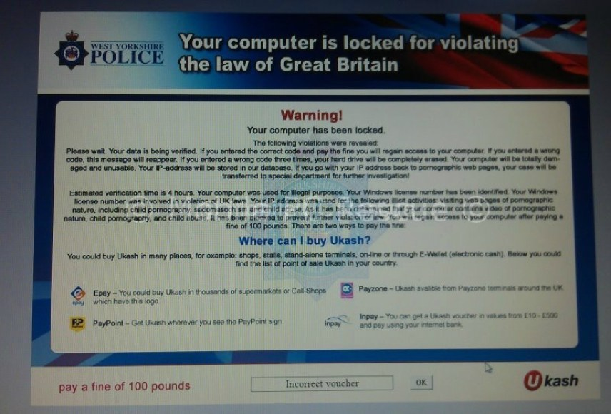 Another Virus Scam