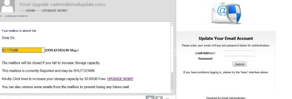 Email Upgrade – SCAM EMAIL