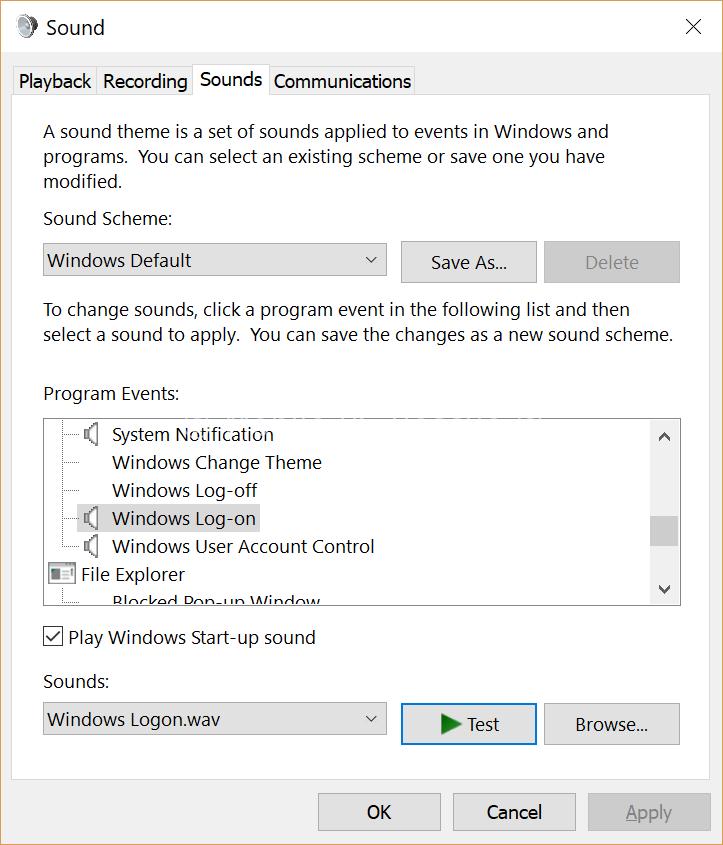 Windows 10 Sounds