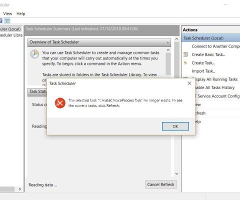 How to fix Task Scheduler in Windows