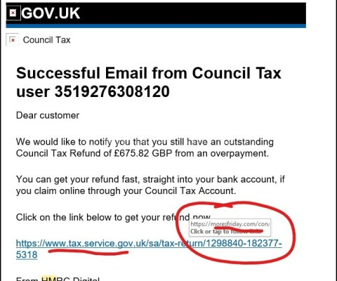 An easy way to spot a SPOOF email