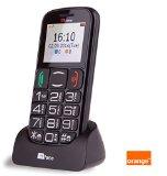 TTfone Mercury 2 (TT200) Pay As You Go – Prepay – PAYG – Big Button Basic Senior Mobile Phone – Simple – with Dock (Orange Pay as you go, Black)