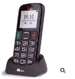 TTfone Mercury 2 TT200 O2 Pay As You Go Big Button Basic Senior UK Sim Free Mobile Phone with Dock – Black