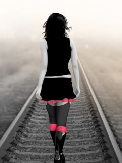 Download Alone Train Track Wallpaper Mobile Wallpapers