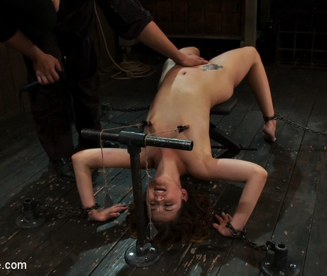Super Cute Allie Haze Stretched And Bound Over Jack Breaker Gets The Zipper