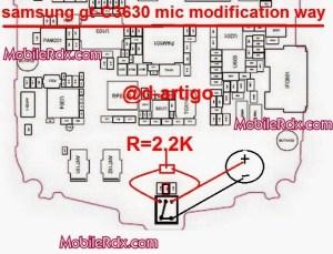 Samsung GTC3630 Mic Modification Solution
